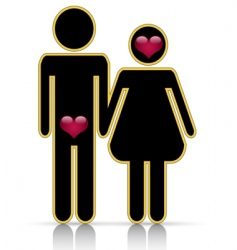 Male-female symbol of love vector