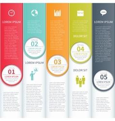 Modern Minimalistic Multicolour Infographics vector image vector image