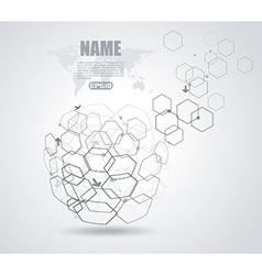 Networks - Globe Design Internet and social vector image vector image