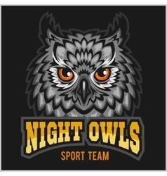 Night owls - sport team head mascot vector