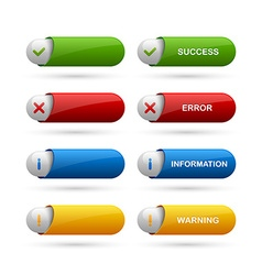 Notification buttons vector