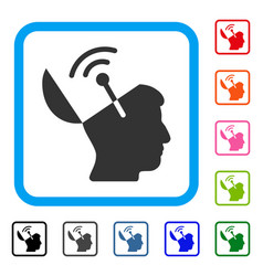 open mind radio interface framed icon vector image vector image