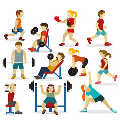People at the gymvarious sports activities vector