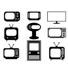 Retro and modern TV vector image