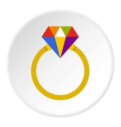 Ring lgbt icon circle vector