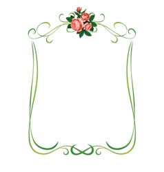 roses frame pattern background vector image