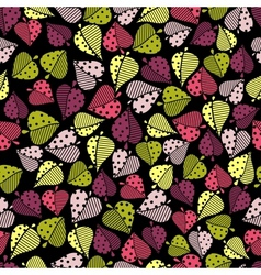 seamless pattern with color leaves vector image vector image