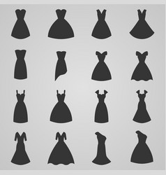 set of women dress vector image vector image