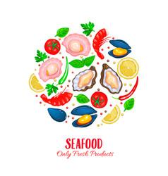 Shellfish poster vector
