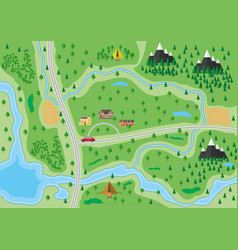 suburban nature map vector image vector image