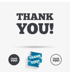 Thank you sign icon Gratitude symbol vector image