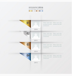 Timeline design template gold bronze silver vector