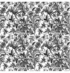 vintage baroque seamless pattern with swirls and vector image vector image