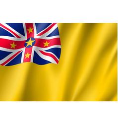 Waving flag of niue vector