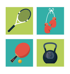 white background with squares set of sports vector image vector image