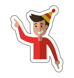 Man dancing party celebration vector