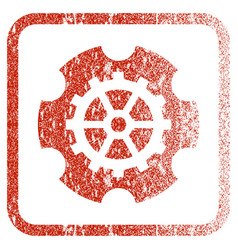 Gearwheel framed textured icon vector