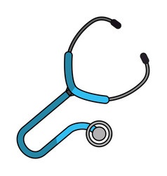 Medical stethoscope to check cardiac heartbeat vector
