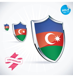 I love azerbaijan flag vector