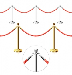rope barrier vector image