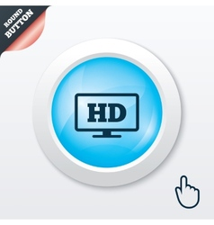 Hd widescreen tv high-definition symbol vector