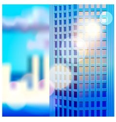 Dawn and skyscraper vector