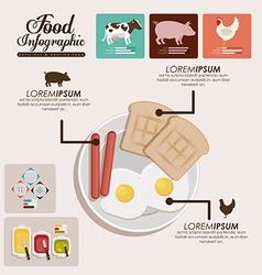 Food infographic design vector