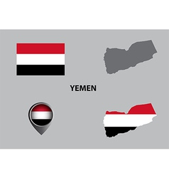 Map of yemen and symbol vector