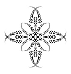 Laurel wreath tattoo cross stylized black vector