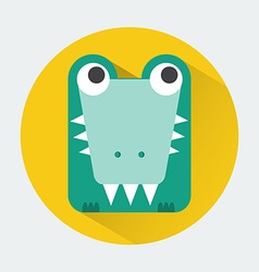 Crocodile baby animal icon vector