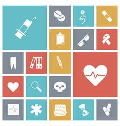 Icons tile medical vector