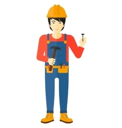 Cheerful repairman engineer vector