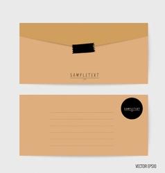 Envelopes set blank mockups vector