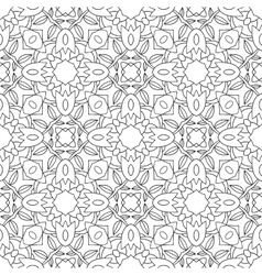 Seamless black and white decorative pattern for vector