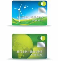 Eco credit card vector
