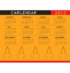 a calendar for 2012 desktop calendar or postcard vector image vector image