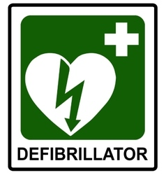 Automated external heart defibrillator safe vector