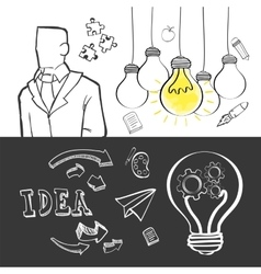 big idea sketch design vector image vector image