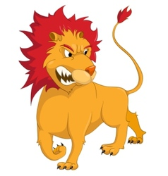 cartoon character lion vector image