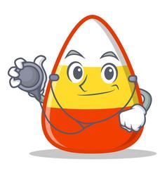 Doctor candy corn character cartoon vector