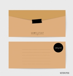 Envelopes set Blank mockups vector image