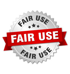 fair use round isolated silver badge vector image vector image