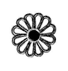 Flower isolated icon vector