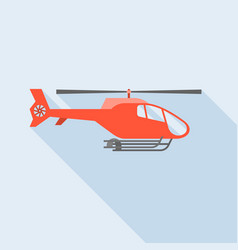flying helicopter vector image vector image