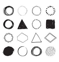 Handdrawn logo designs vector image vector image