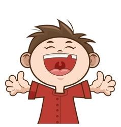 happy kid boy smiling vector image