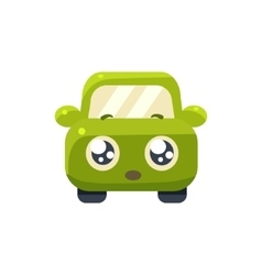 Hopeful green car emoji vector