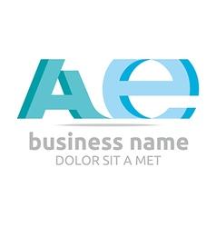 Logo letter a combination e alphabet lettering vector
