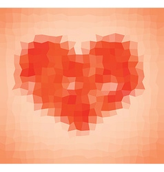 Pixelated heart vector image