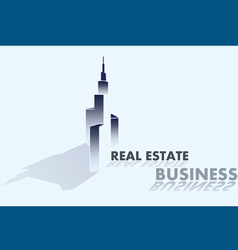 real estate business grey vector image